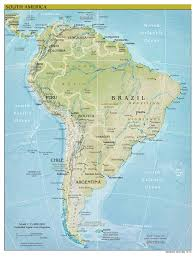 Columbia South America Map Large Scale Political Map Of South America With Relief 2010