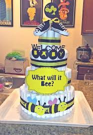bumble bee diaper cake baby shower pinterest burts bees