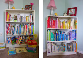why color coding your child u0027s bookshelf is a good idea harmony