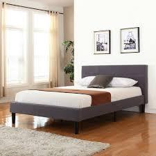 bedroom gray upholstered platform bed gray upholstered bed white