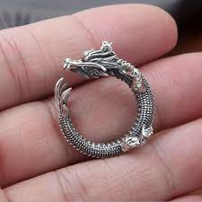 rock silver rings images Super cool thai silver dragon rings rock style solid 925 sterling jpg