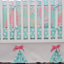 Pink And Blue Crib Bedding Pixie Baby In Aqua 3 Piece Crib Bedding Set By My Baby Sam