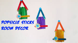 diy wall hanging craft ideas using colourful paper popsicle