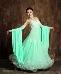 2017 new ladies modern waltz tango latin ballroom competition