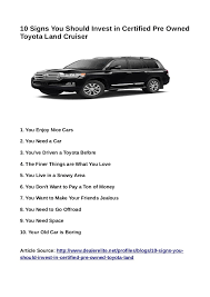 toyota land cruiser certified pre owned 10 signs you should invest in certified pre owned toyota land cruiser