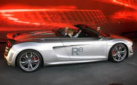 Audi R8 Silver - file silver audi r8 gt spyder side iaa 2011 jpg wikimedia commons