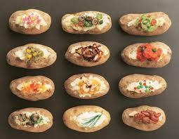 Mashtini Bar Toppings 12 Best Potato Bar Images On Pinterest Baked Potato Bar Baked
