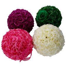 Pomander Balls Pink Wedding Kissing Balls Ebay