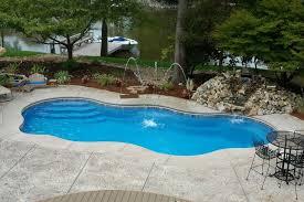 new great lakes in ground fiberglass pool by san juan pool design modern lagoon fiberglass pool design concept with