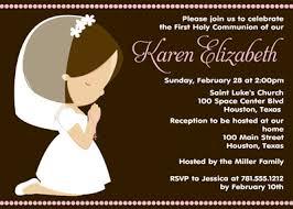 communion invitations for girl girl communion invitations