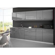 cuisine grise plan de travail noir cuisine complete 3m grise avec plan de travail achat vente