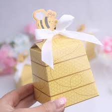baby shower guest gifts 50pcs lot bee birthday baby shower favors boxes baby shower