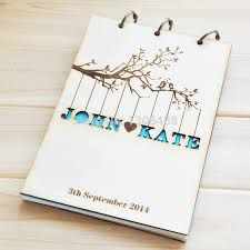 wedding guest book photo album personalized wedding guest book rustic wedding guestbook album