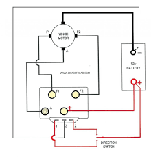 electric winch wiring diagram in electric fishing winch superwinch