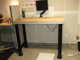 Sit To Stand Desk by Quick Electric Sit To Stand Desk 7 Steps With Pictures