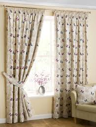 Floral Lined Curtains Contemporary Floral Curtain Fabric Striking Purple Curtains Window