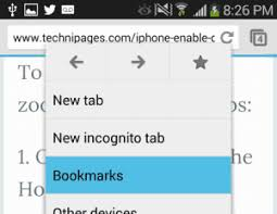 bookmarks on android chrome manage bookmarks