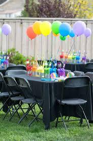 rainbow paint party birthday party ideas photo 1 of 35