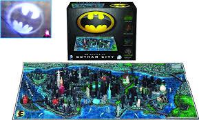 Map Of Gotham City Jun168000 4d Cityscape Batman Gotham City Puzzle Previews World