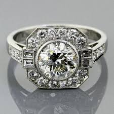 platinum vintage rings images Vintage platinum milgrain engagement ring platinum wedding bands jpg