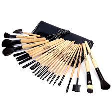 pouch mac 24 piece professional makeup brush set in leather pouch24 ellore femme previous next
