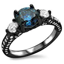 black gold sapphire engagement rings jewels blue ring 3 engagement ring black