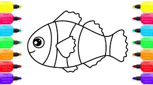 coloring pages colorful clown fish how to draw animals drawing