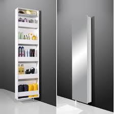 Mirrored Bathroom Cupboard Egmore Mirrored Rotating Bathroom Storage Cabinet In White Will