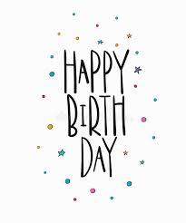 happy birthday simple design happy birthday lettering typography stock illustration