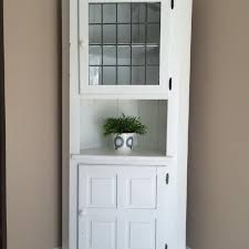 find more solid wood corner hutch painted white smoke free home