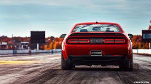 Dodge Challenger Srt - 2018 dodge challenger srt demon rear hd wallpaper 36