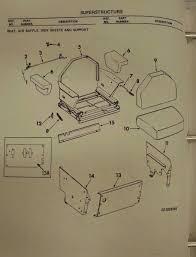 international ih dresser late 175b 175c crawler loader seat