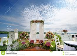 wedding arch using doors white fancy door as a wedding arch stock photography image 33144872
