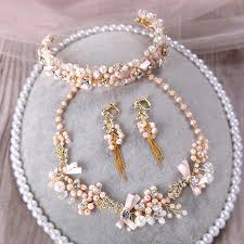 ornament high quality wedding handmade pearl jelwelry sets