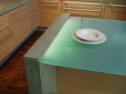 glass kitchen island glowing glass countertops custom