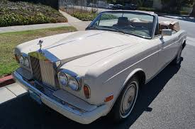 rolls royce dealership 1986 rolls royce corniche ii tan leather stock 492 for sale near
