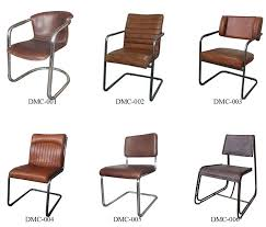 Rustic Industrial Dining Chairs Solid Wood Mid Century Style Dining Chair With Vintage Leather