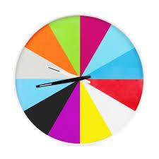 ultra flat multicolor wall clock moma design store