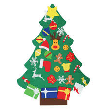 2018 new non woven diy christmas tree decoration set new year