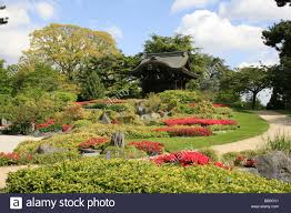 japanese garden kew royal botanical gardens stock photo royalty
