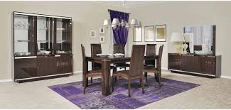 Italian Lacquer Dining Room Furniture Caprice Italian Modern Lacquered 7 Dining Set