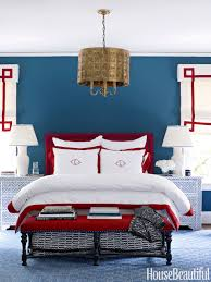 White And Dark Blue Bedroom Patriotic Decor For 4th Of July Red White And Blue Decorating