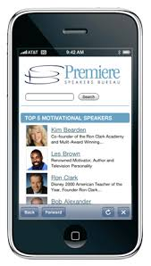 premiere speakers bureau premiere iphone app updated premiere motivational speakers bureau
