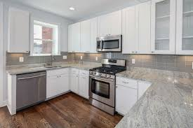 granite countertop re laminate kitchen cabinets white and gray