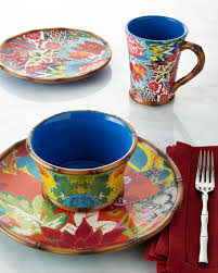 Poetic Wanderlust Bedding Poetic Wanderlust 16 Piece Hand Painted Dinnerware Service