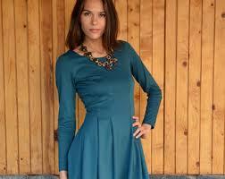 long sleeve dress etsy