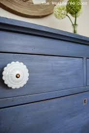 Light Blue Paint by A Federal Blue Milk Paint Dresser With Light Blue Knobs The