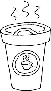 Coffee Printable Coloring Pages For Coffee Cup Coloring Page 7941 Cup Coloring Page