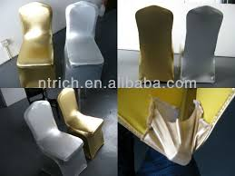 gold spandex chair covers luxury metal gold silver chair covers weddings chair covers