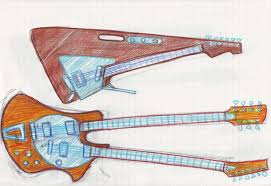 guitarren more double neck and neckless guitar sketches